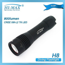 Hi-max H8 cree xm-l t6 samll lumière de plongée de sauvegarde