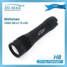 Hi-max H8 cree xm-l t6 samll back-up diving light