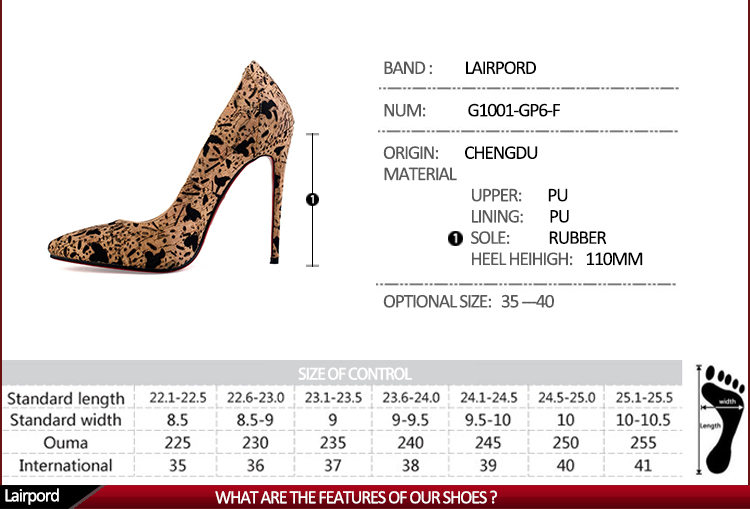 fashionable thin heel women shoe