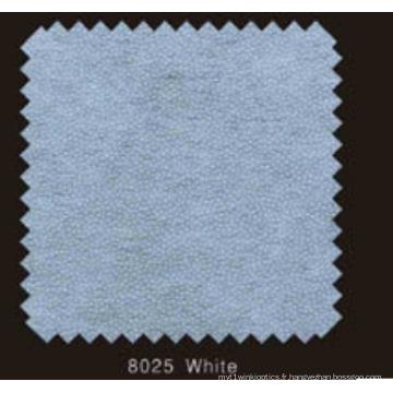 Couleur blanche non tissée DOT Interlining avec poudre PA (blanc 8025)