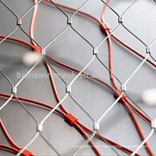 2015 alibaba china supply stainless steel wire rope mesh(furruled/Knotted)
