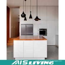 Meubles contemporains de cuisine de laque avec l'île (AIS-K330)