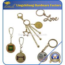 Llavero promocional de metal personalizado de oro