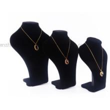 Custom Suede Window Display Neck Jewelry Necklace maniquí maniquí