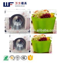 PE soft Vegetables and fruit basket mould made in China/OEM Custom PE soft Vegetables and fruit basket mold making