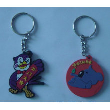 Animal Shape PVC Key Ring, Plastic Keychain (GZHY-KA-071)