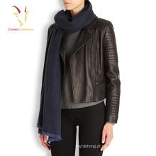 Mulheres italianas inverno malha Cashmere Snood algodão cachecol xaile
