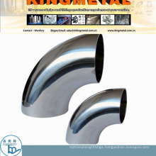 Ss304/316 Food Grade Sanitry Welded 45D Elbow by 420 Grit