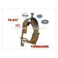 Poste de montaje en poste Abrazaderas de acero accesorios accesorios de poste de acero galvanizado abrazaderas de línea de tubería de acero