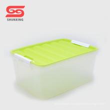 Hochwertige transparente Mehrzweck Kunststoff PP Kinder Aufbewahrungsbox mit Deckel