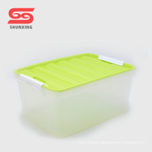 High quality transparent multipurpose plastic PP kids storage box with lid