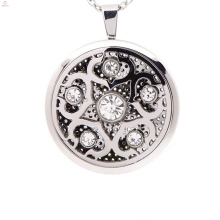 Nuevos colgantes del locket de la caja de la filigrana de la llegada, colgante del medallón de la plata esterlina del perfume sólido