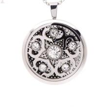 Nova chegada filigrana pingentes medalhão gaiola, pingente de medalhão de prata esterlina perfume sólido