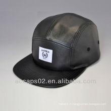 Chapeau en cuir pleine / chapeau en cuir de 5 panneaux