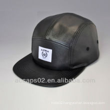 full leather strap hat/5 panels leather hat