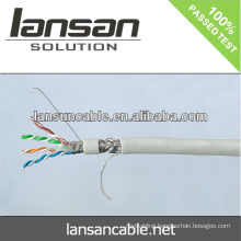 Lansan best price stp cat6 lan cable BC 23awg pass fluke test good quality and factory price