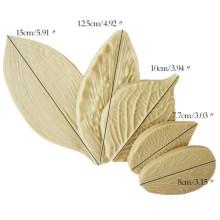 5PCS/Set Leaf Silicone Mold Fondant Cake Mold Three-Dimensional Leaf Silicone Mold Set