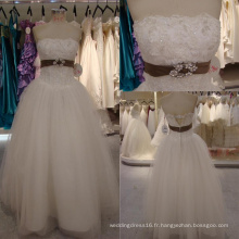 Robe de mariée sans bretelles