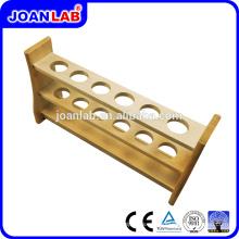 Rack de tubos de ensayo de madera JOANLAB para uso en laboratorio