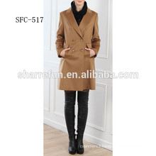 ladies cashmere coat fashion design