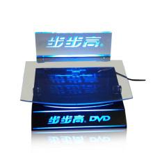 Estuche de iluminación acrílico POS para DVD