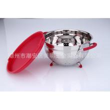 Panier à fruits en métal avec couvercle en plastique
