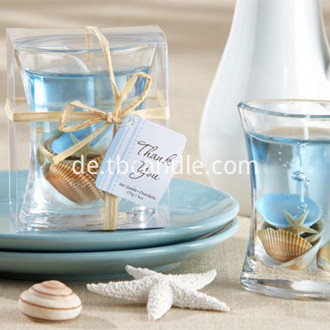 Seashell Gel candles Holder with soy wax