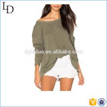 Slouchy Personnalisé chaud hoodies femme ouverte retour sweat léger