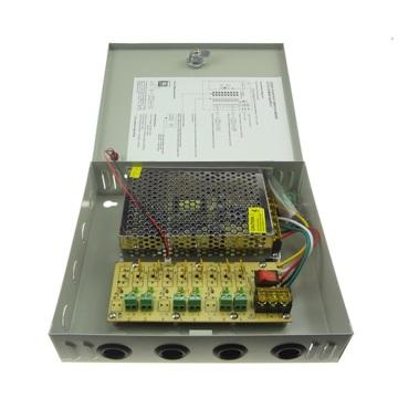 60W 12V 5A 6CH CCTV Power Supply Box