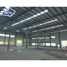 Qingdao prefabricated certificated metal frame steel structure double span tire workshop storage building