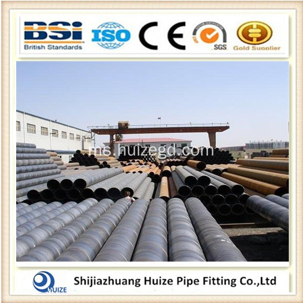 48 inci ASTM A53 SSAW Steel Pipes