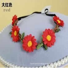 Women′s Bohemian Style Sunflower Handmade Headband (HEAD-354)