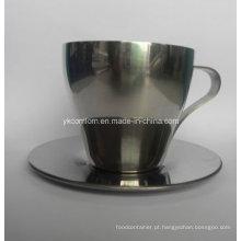 Conjunto de café caneca inox 300ml