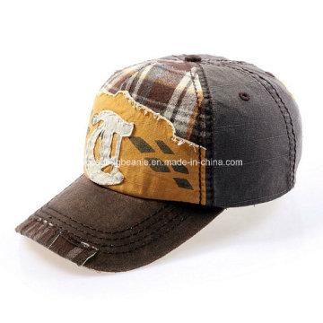 Washed Applique Baseball Hat