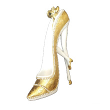 Gold  diamond resin craftwork gift noble crystal shoes A Cinderella Story  woman high-heeled shoes