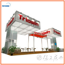 China design & customize portable Custom Exhibition Display Stand with Hanging Banner for Trade Show