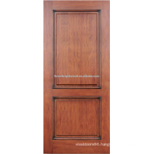 2- panel red oak hardwood door design