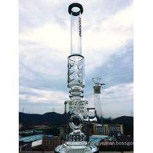 Hb-K42 23′′tire to Ring to Tire Perc 3 Ice Notches Shape Glass Smoking Water Pipe