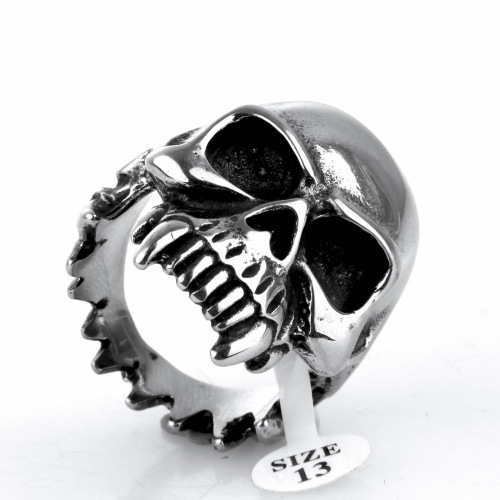 Tooth decay skull ring