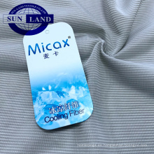 textiles para el hogar ropa de cama ropa de secado rápido micax sensación de frío tela de jersey de punto de raya de nylon