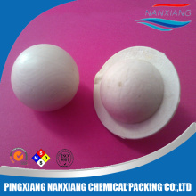 Plastic covering ball random packing