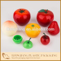 Plastic fruit,cherry,blue berry cream jar with mouse