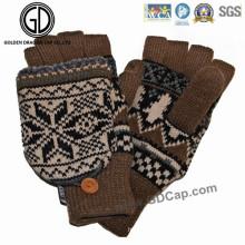 Großhandels-kundenspezifischer Art- und Weisevlies strickte Winter-warmer Handhandschuh