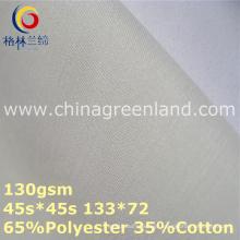 Poliéster algodão popeline forro tecido para camisa têxtil (gllml364)