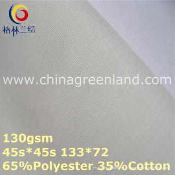 Tissu de doublure de popeline de coton de polyester pour le textile de chemise (GLLML364)