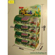 Exposição de assoalho do cartão, suporte do contador de papel, exposição do cartão da promoção (B & C-A076)