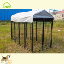 Durable Square Tube Dog Kennel Med Silver Cover