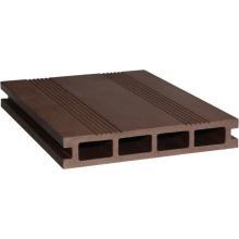 Decking compuesto plástico de madera hueco (HLM164)