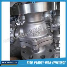 Válvula de bola de muñón de acero inoxidable industrial