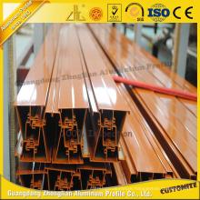 Anodized, Powder Coating, Wood Grain Color Aluminum Extrusion Profiles